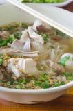 Vietnames noodle soup in bowl Stock Images
