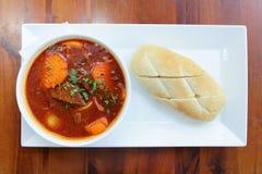 Vietnames-stil nötkött Stew Bo Kho, med bröd Royaltyfria Foton