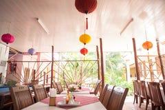 Vietnames-stil restaurang Arkivbild