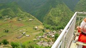 Vietnamese Akha tribe village on mountain,Sapa,Vietnam stock footage