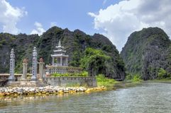 Vietnamese Altar. A Vietnamese altar or cemetery along the river in Tam Coc, Vietnam Royalty Free Stock Photo