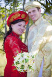 Vietnamese American wedding ceremony Stock Photos