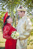 Vietnamese American wedding ceremony Royalty Free Stock Photo