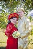 Vietnamese American wedding couple Stock Photography