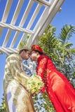 Vietnamese Amerikaanse huwelijksceremonie Royalty-vrije Stock Foto