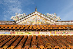 Vietnamese ancient architecture Stock Images