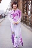 Vietnamese ao dai Royalty-vrije Stock Afbeeldingen
