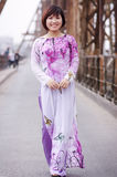 Vietnamese ao dai Royalty Free Stock Images