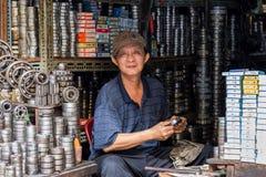 Vietnamese ball bearing seller Stock Photography