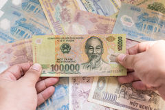 Vietnamese banknote Royalty Free Stock Photography