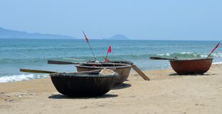 Vietnamese Basket Boats royalty free stock photo