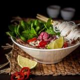 Vietnamese Beef Noodle Soup Pho Bo. Suare Stock Photos