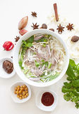Vietnamese Beef Noodles Soup - Pho Bo Stock Photo