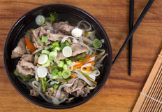 Vietnamese beef Pho soup bowl Stock Photo