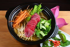 Vietnamese beef soup pho Royalty Free Stock Images