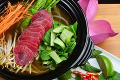 Vietnamese beef soup pho Stock Images