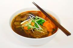 Vietnamese Beef Stew (Bo Kho). A bowl of VIetnamese beef stew (bo kho Stock Photos