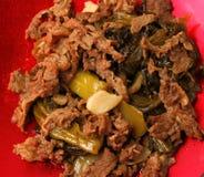 Vietnamese beef stir fry. Close up Stock Image