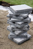 Vietnamese Bluestone. A pile of vietnamese blue stones used for building a new terrace royalty free stock image