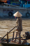 Vietnamese boat at the Can Tho floating market Stock Photography