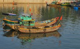 Vietnamese boats Royalty Free Stock Photos