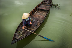 Vietnamese boats in Hoi An. Typical boats in Hoi An, Unesco site in Vietnam royalty free stock photo