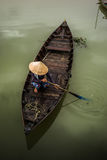 Vietnamese boats in Hoi An Royalty Free Stock Image