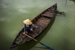 Vietnamese boats in Hoi An Stock Photos