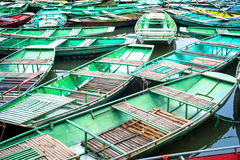 Vietnamese boats at river. Ninh Binh, Vietnam Stock Image