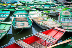 Vietnamese boats at river. Ninh Binh. Vietnam Stock Photos