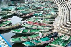 Vietnamese boats at river. Ninh Binh, Vietnam Royalty Free Stock Photos