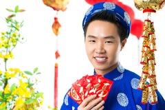 Vietnamese boy at Tet Royalty Free Stock Photography
