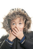 Vietnamese boy with winter jacket Royalty Free Stock Images