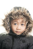 Vietnamese boy with winter jacket Stock Image