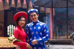 Vietnamese bride and groom Stock Photo