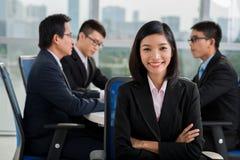 Vietnamese business lady Stock Photo