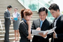 Vietnamese businesspeople Royalty Free Stock Image