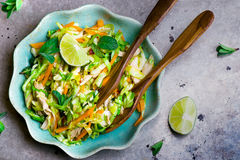 Vietnamese cabbage salad. Royalty Free Stock Photography