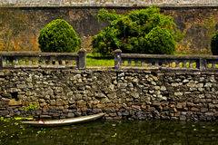 Vietnamese Canoe in Moat Stock Photo