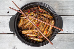 Vietnamese caramelized smelt fishes Royalty Free Stock Images