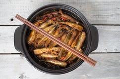 Vietnamese caramelized smelt fishes Stock Photography
