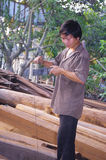 Vietnamese carpenter Stock Photo