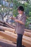 Vietnamese carpenter Stock Photo