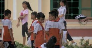 Vietnamese children at physical education. Hanoi, Vietnam stock video footage