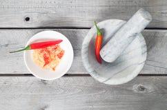 Vietnamese Chili Salt - Muoi Ot Stock Photo