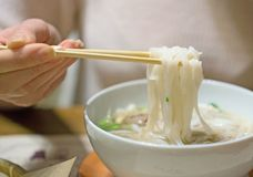 Vietnamese classic noodle soup. Royalty Free Stock Photography