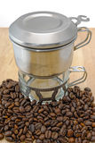 Vietnamese coffee brewing Royalty Free Stock Photos