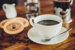 Vietnamese coffee with coffee beans Royalty Free Stock Photos