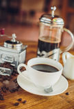 Vietnamese coffee with coffee beans Royalty Free Stock Image