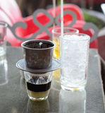 Vietnamese coffee with ice Stock Images